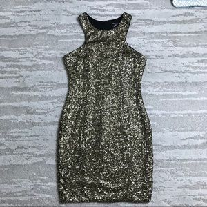Nikibiki Black Gold Sequin Dress Size Medium
